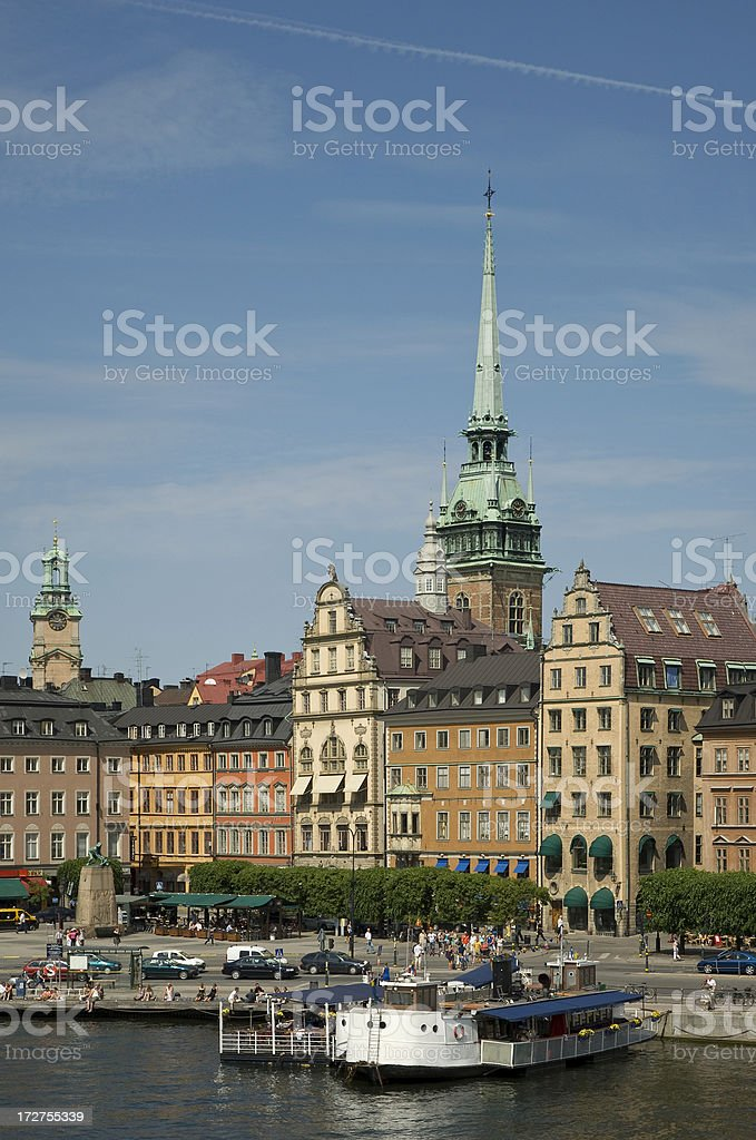 The old town in Stockholm royalty-free stock photo