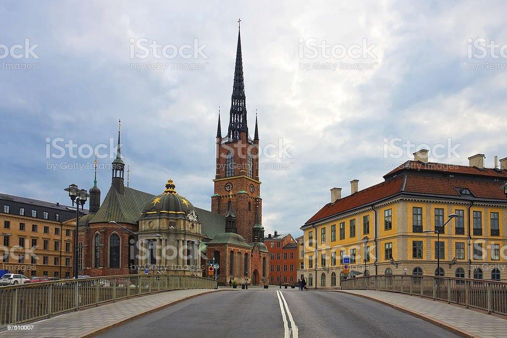 The Old Town in Stockholm, Sweden royaltyfri bildbanksbilder