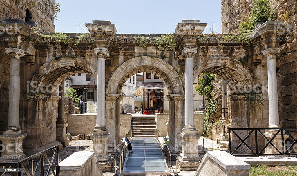 The old town of Antalya stock photo