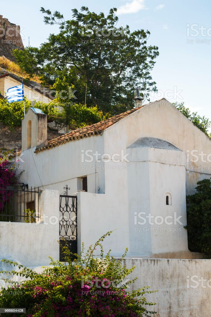 The old town of Athens. stock photo