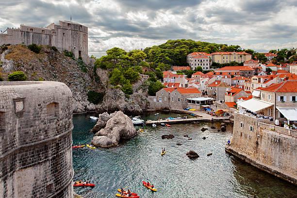 The Old Town of Dubrovnik, fort Lovrijenac - foto de stock
