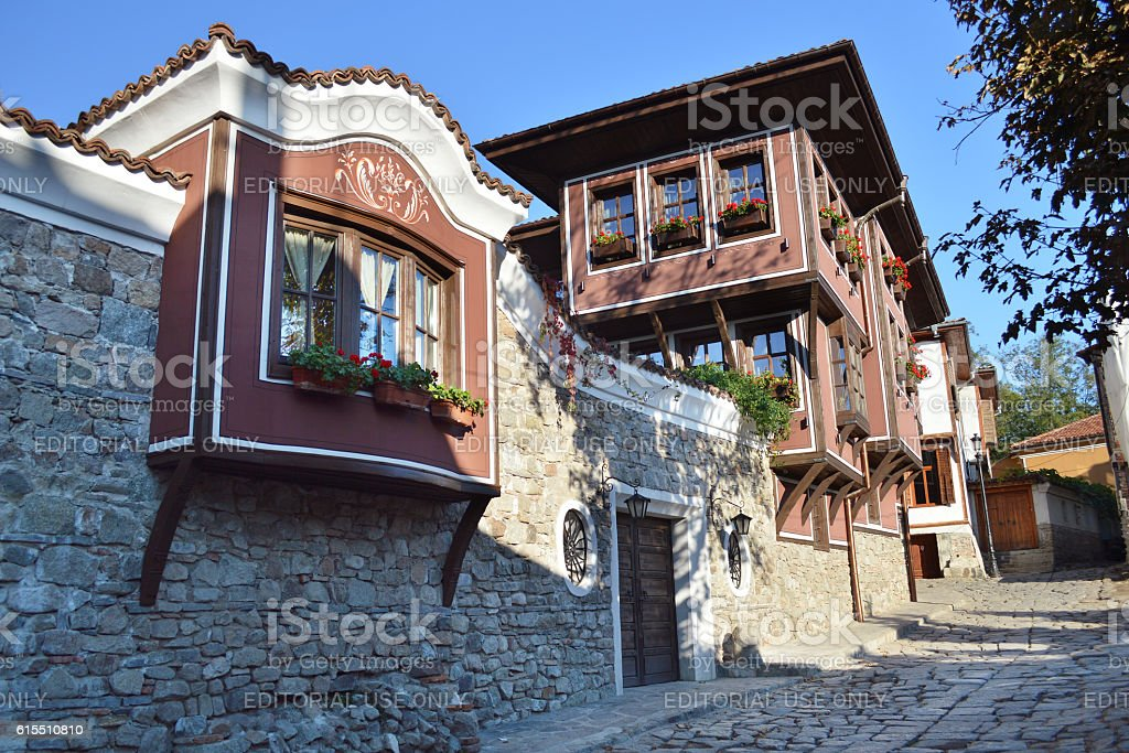 The old town of Plovdiv, Bulgaria stock photo