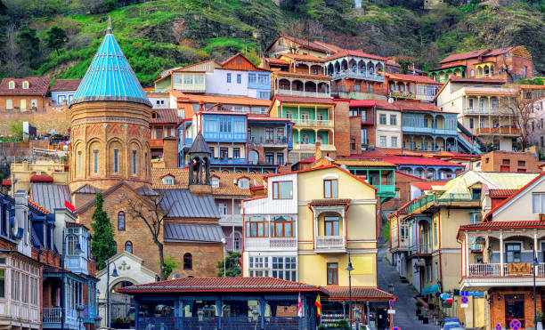 The Old Town of Tbilisi, Georgia stock photo