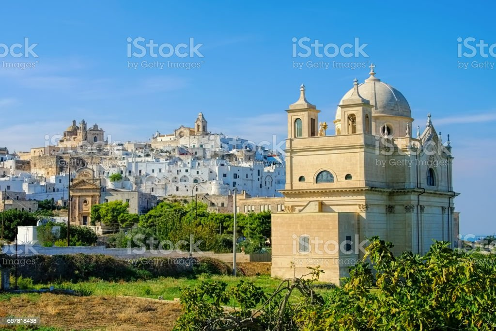 the old town Ostuni in Apulia, Italy stock photo