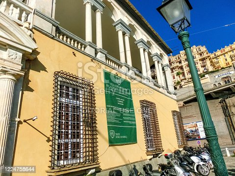 Genoa, Liguria, Italy - September 11, 2019: Villa del Principe and its Gardens  at Genoa, Liguria, Italy on September 11, 2019