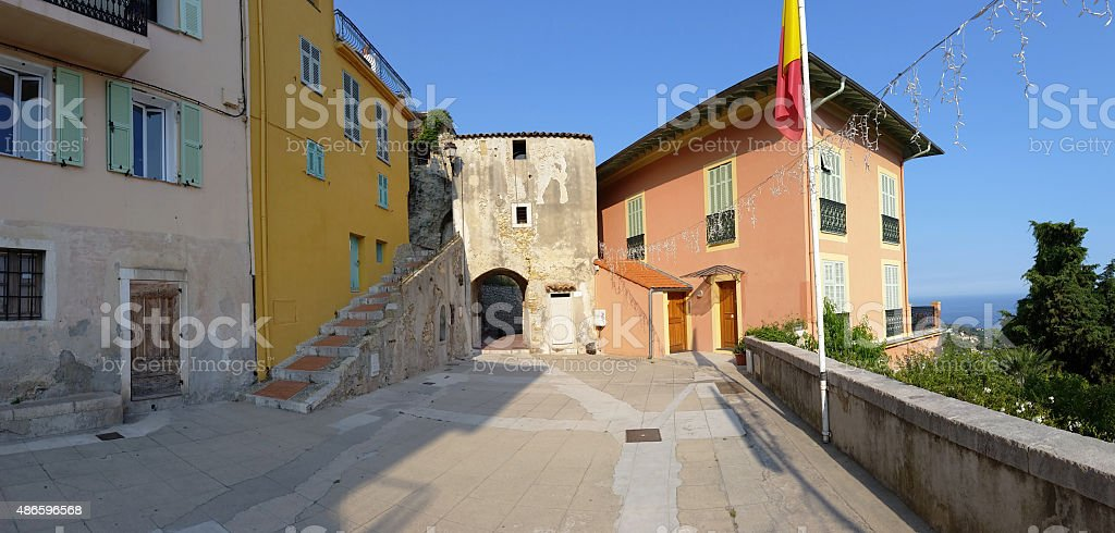 The old village of Roquebrune-Cap-Martin stock photo