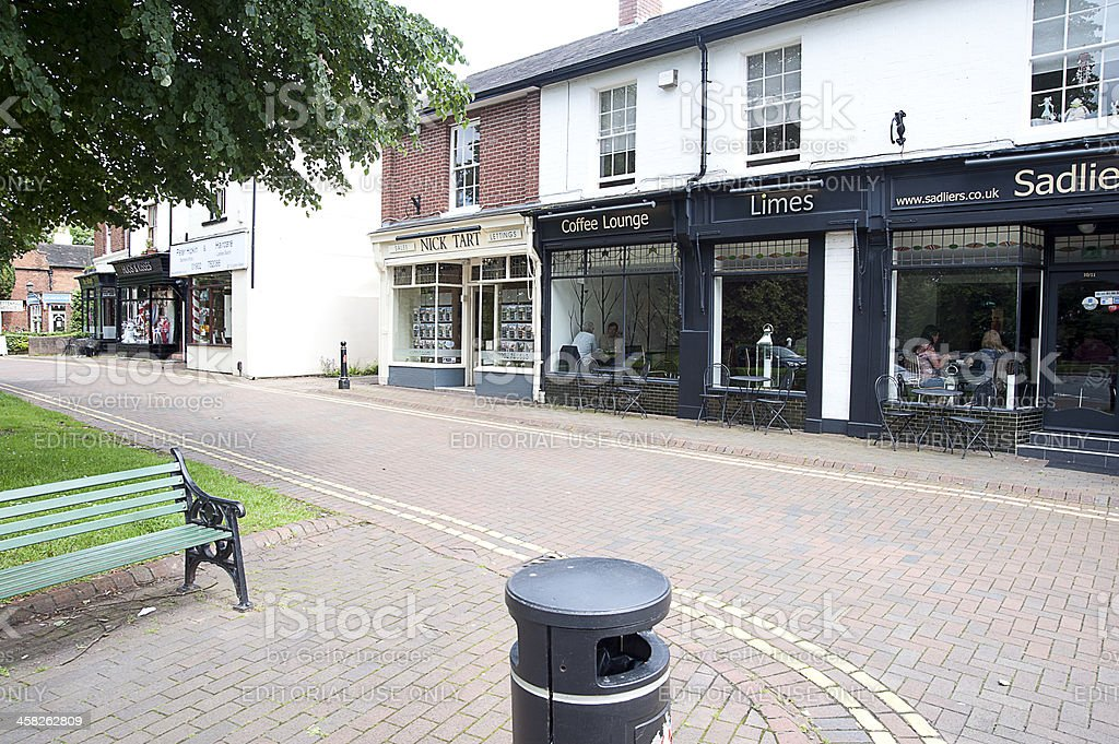 The old village of Tettenhall stock photo