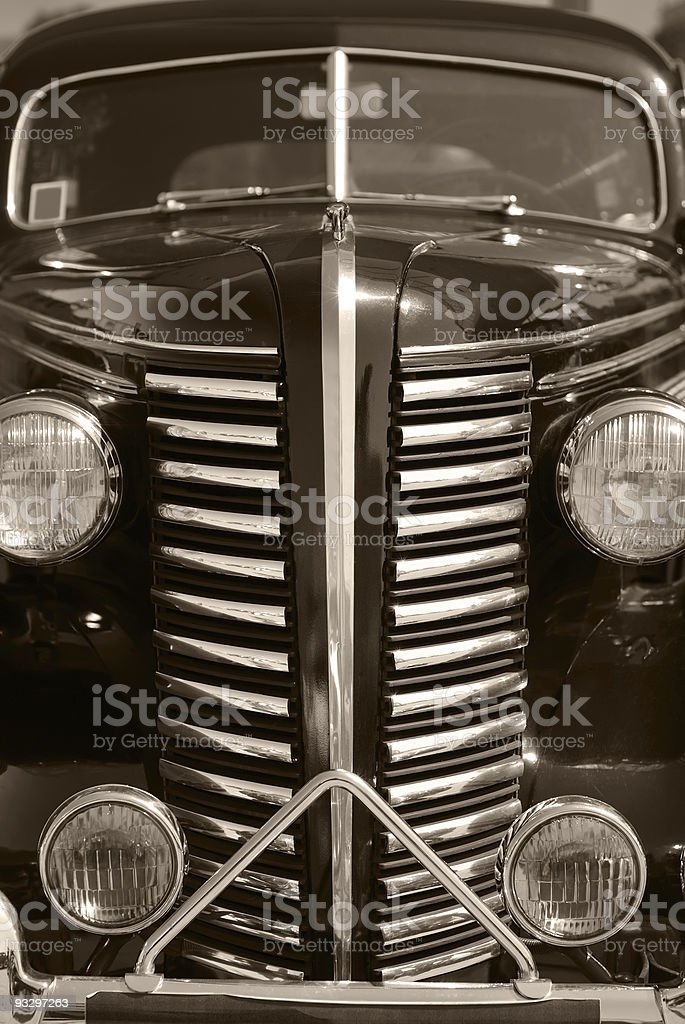 The old vintage black car stock photo