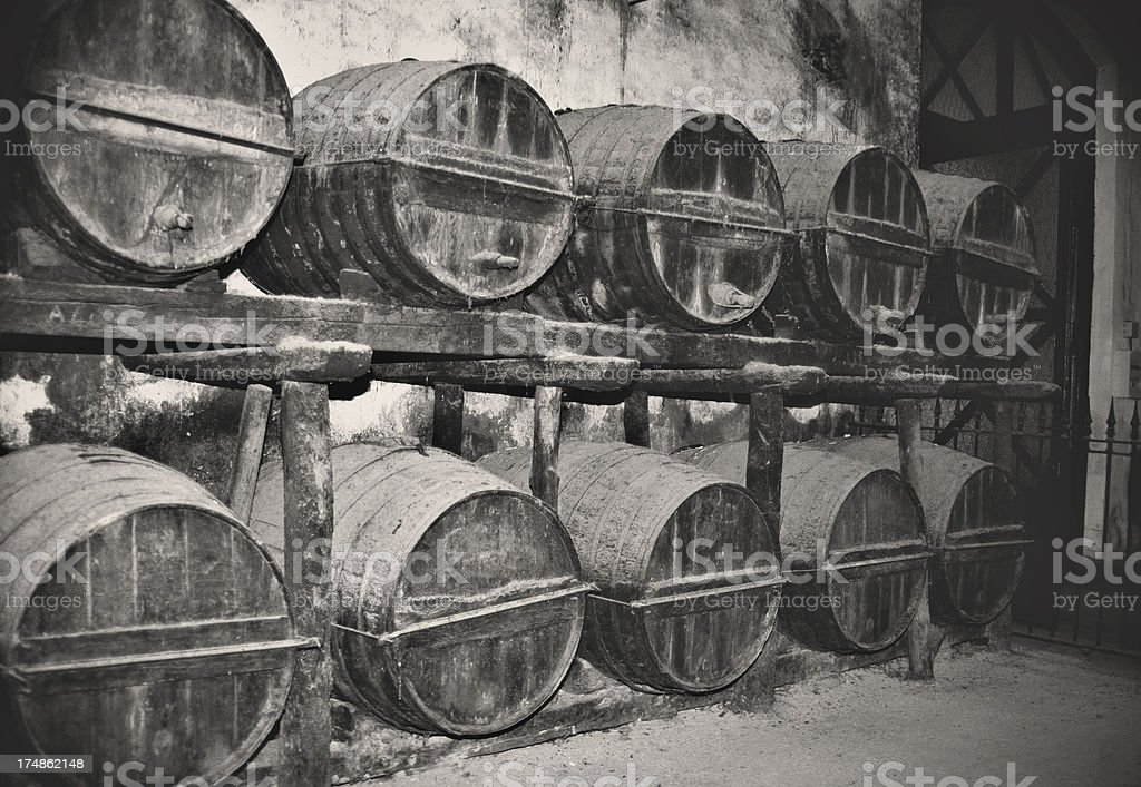 The old wine cellar royalty-free stock photo
