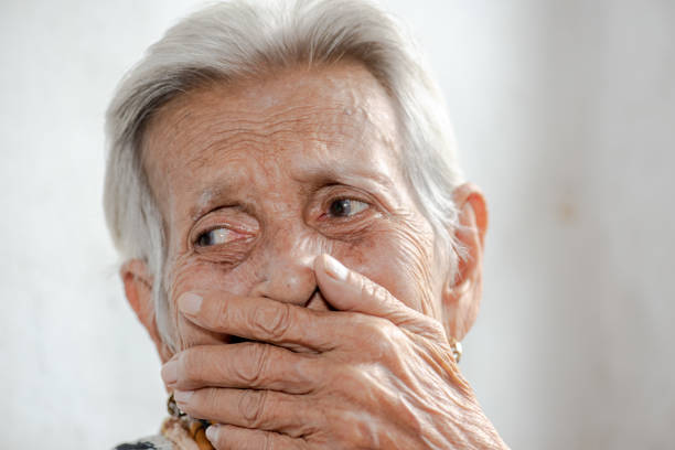 The old woman's felling lonely.(dementia and Alzheimer's disease) – zdjęcie