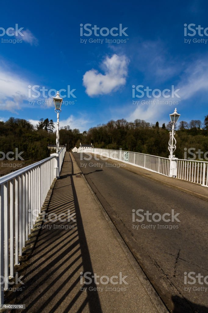 The Old Wye Bridge or Town Bridge at Chepstow stock photo