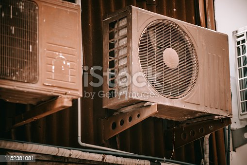 The older Air conditioner compressor