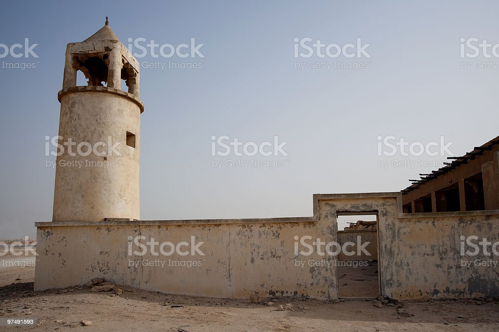 The older mosque in Doha, Qatar royalty-free stock photo