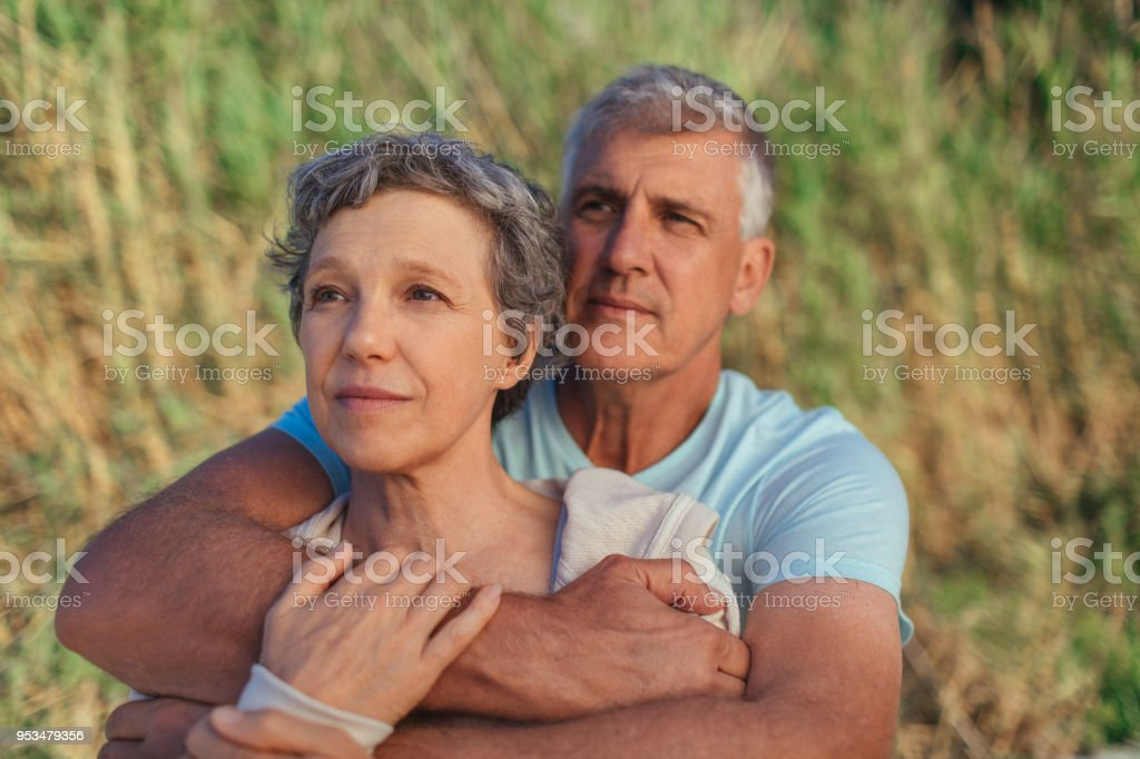 The older the love, the deeper it is stock photo