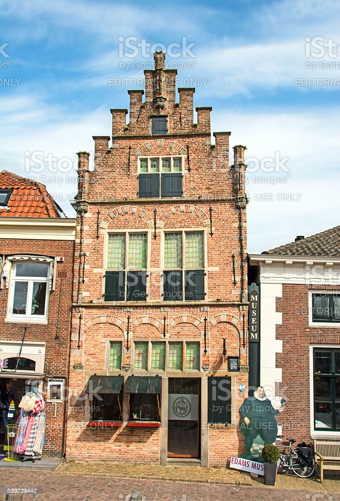 The oldest building in Edam, Neatherlands- now a local museum stock photo