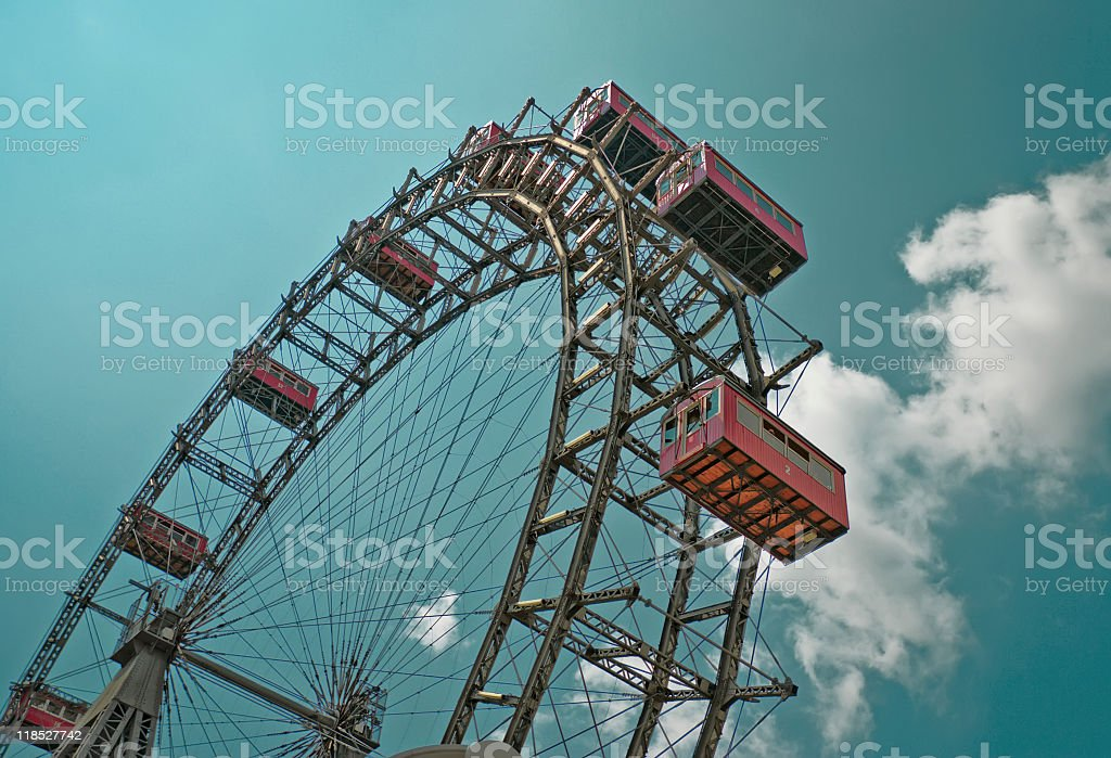The oldest Ferris Wheel in Vienna stock photo