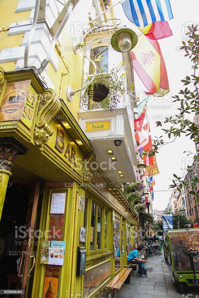 The Oliver St John Gogarty pub on Temple Bar, Dublin stock photo