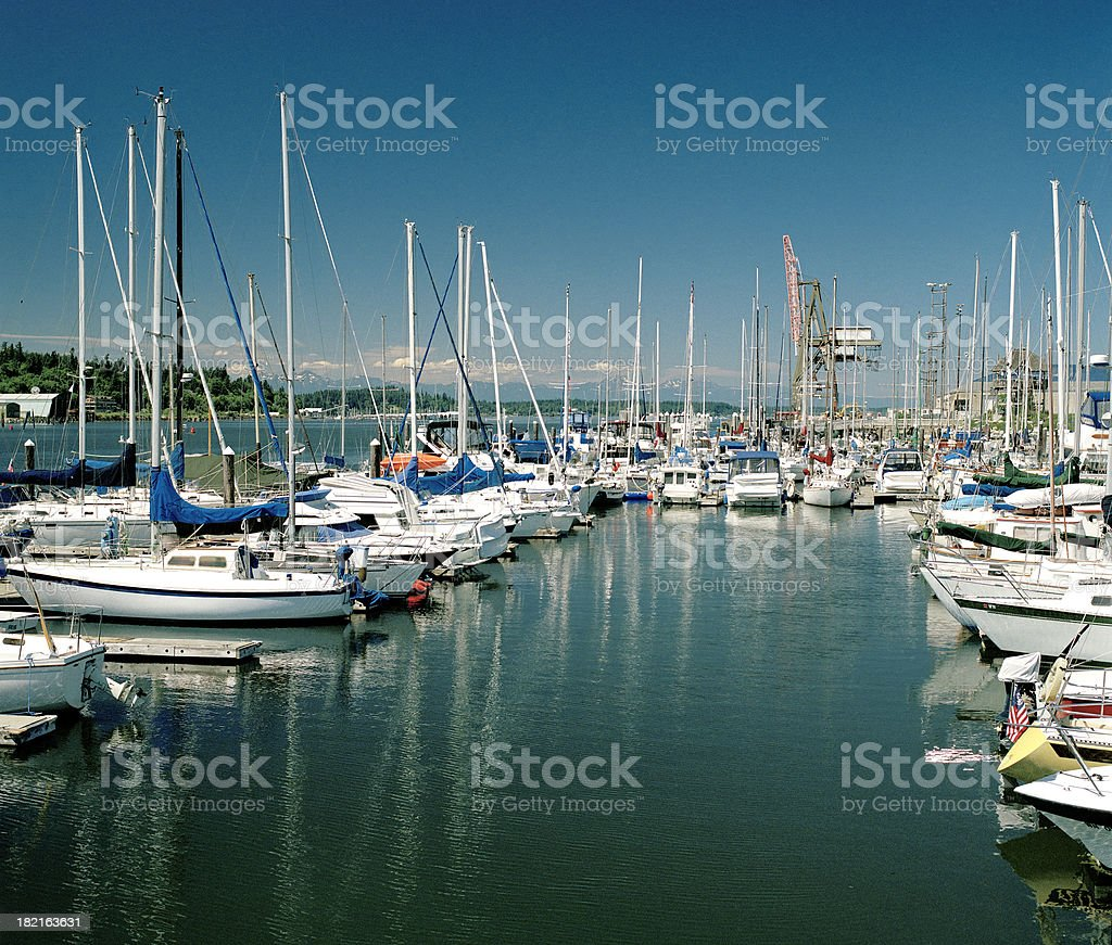 The Olympia Harbor stock photo