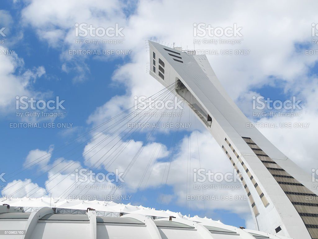 The Olympic Stadium in Montreal, Canada stock photo