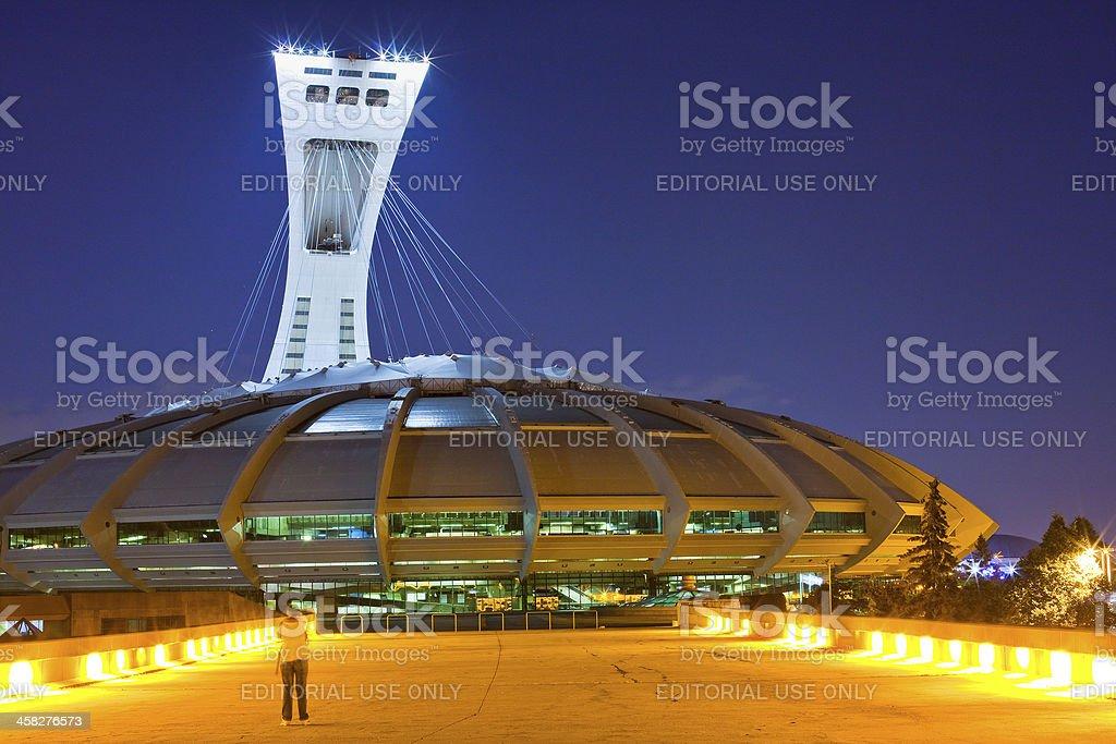 The Olympic stadium of Montreal, Canada stock photo