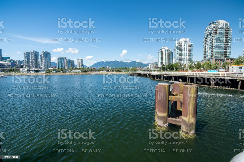 The olympic village at False creek on a sunny afternoon stock photo