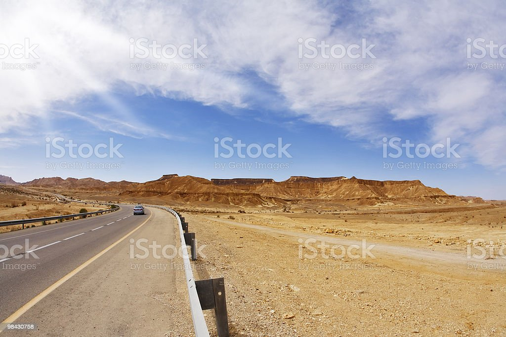The on empty highway royalty-free stock photo