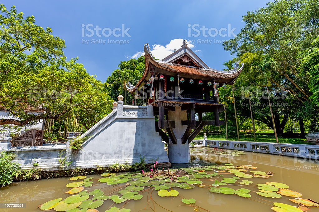 The One Pillar Pagoda in Hanoi, Vietnam stock photo