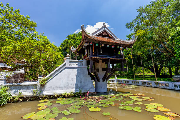 The One Pillar Pagoda in Hanoi, Vietnam Hanoi, Vietnam pagoda stock pictures, royalty-free photos & images