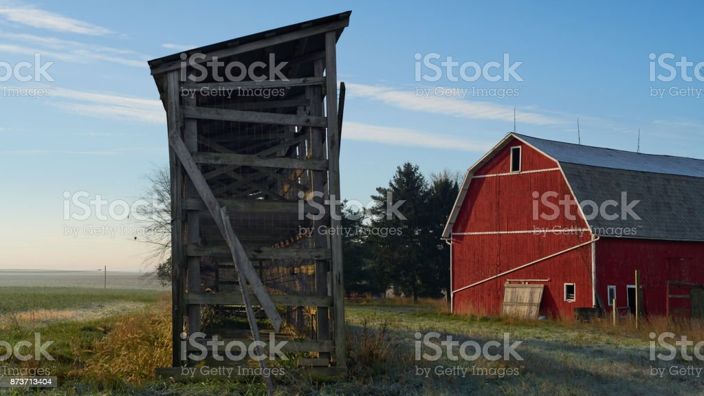 The one with the Red Barn stock photo