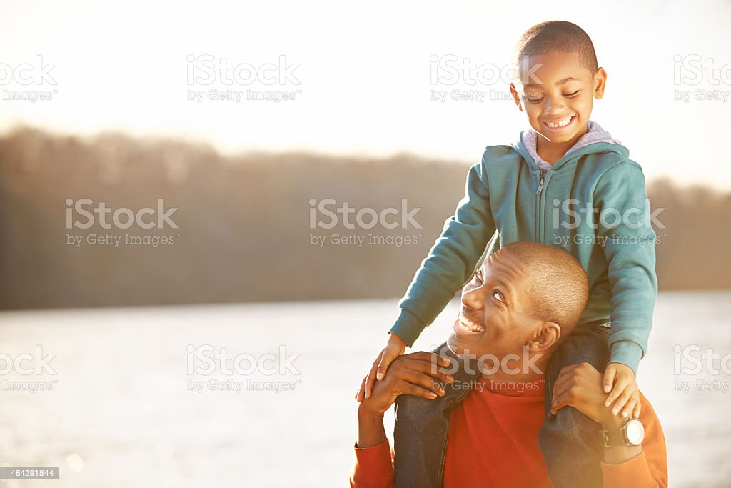 The only superhero i know is my dad stock photo