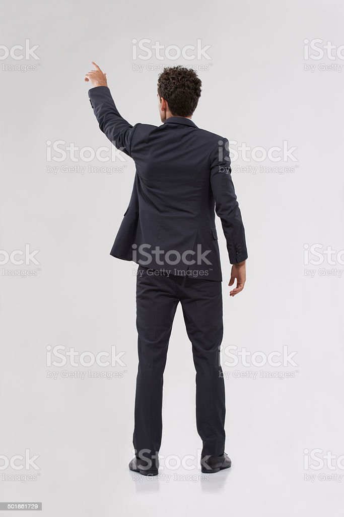 The only way forward is with technology stock photo