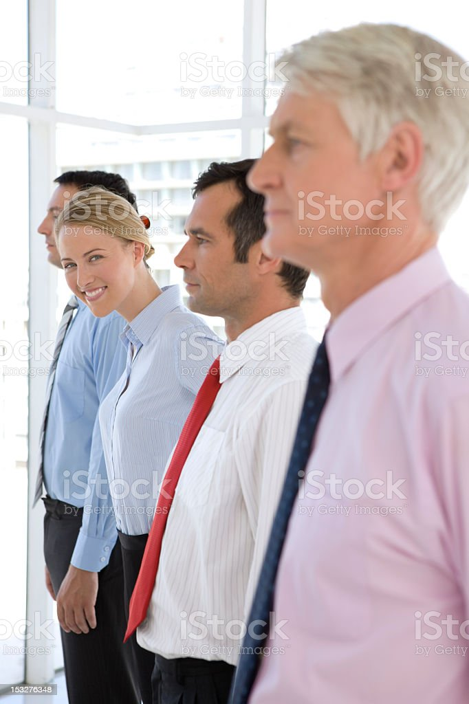 The only woman royalty-free stock photo