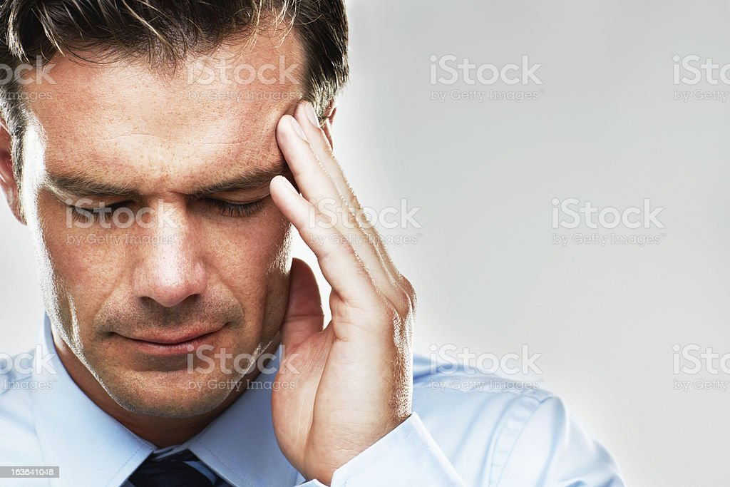 The onset of a migraine royalty-free stock photo