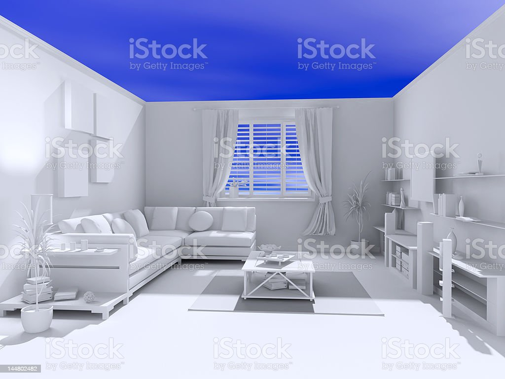 the open blank interior royalty-free stock photo
