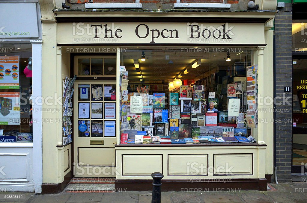 The Open Book - Richmond, London stock photo