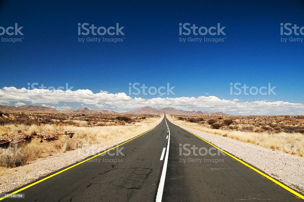 The Open Road royalty-free stock photo