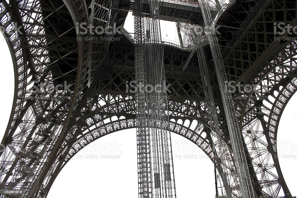 The openwork interweaving Eiffel Tower. Paris. France stock photo