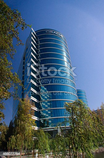 istock The Oracle Headquarters located in Redwood City 466077754