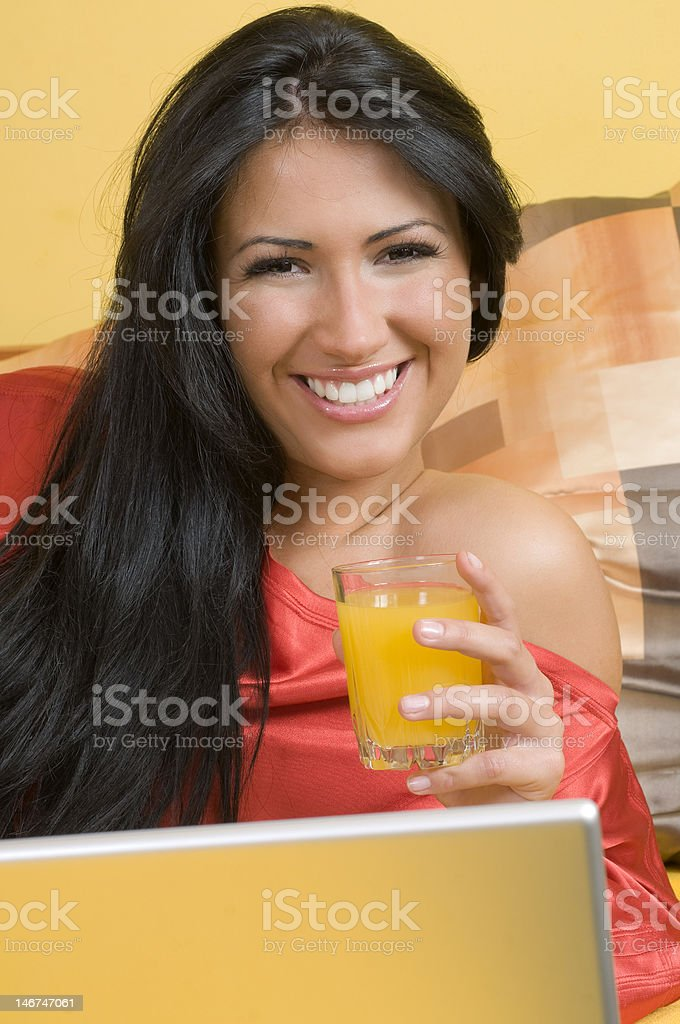the orange juice royalty-free stock photo
