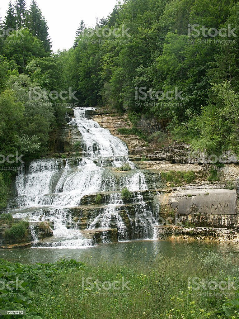 The Orbe Gorge and River - Swiss Jura stock photo