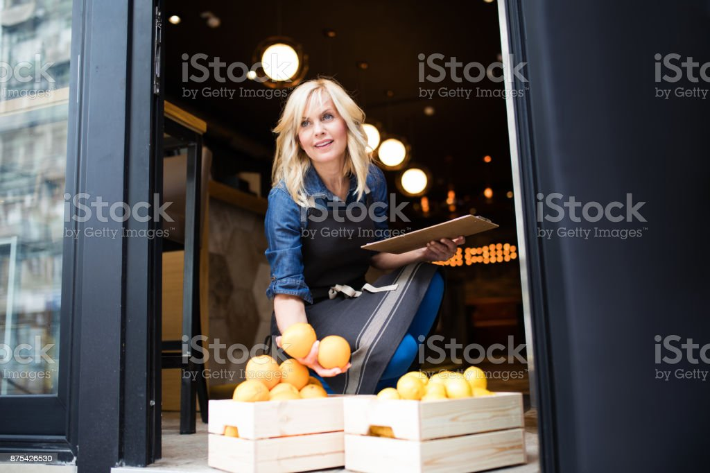 The order has arrived stock photo