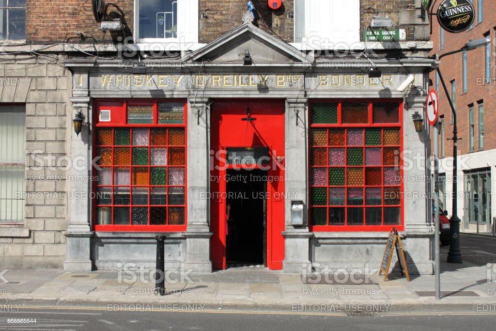 The O'Reilly Bros Bar in Dublin stock photo