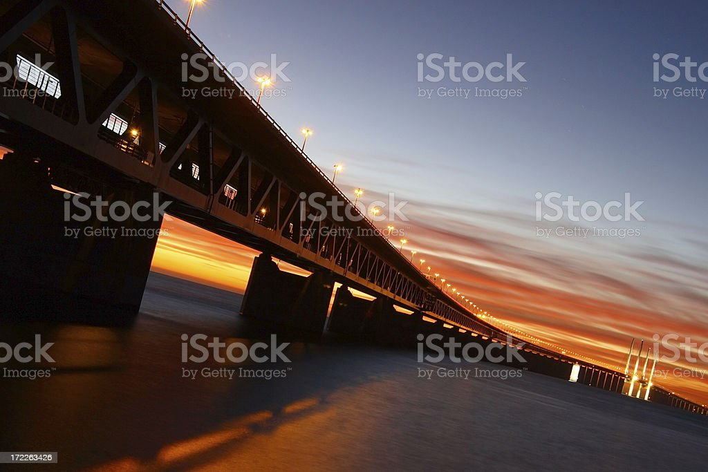 The Oresund bridge stock photo