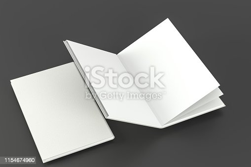 621728016istockphoto The organized hard cover notebooks, 3d rendering. 1154674960