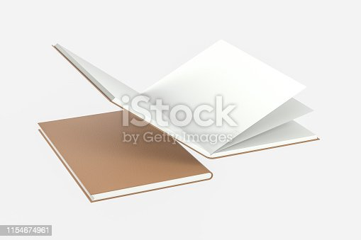 621728016istockphoto The organized hard cover notebooks, 3d rendering. 1154674961