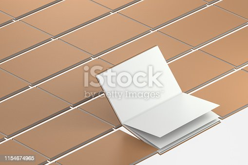 istock The organized hard cover notebooks, 3d rendering. 1154674965