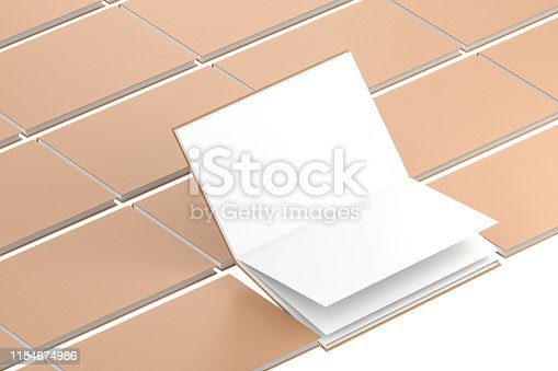 621728016istockphoto The organized hard cover notebooks, 3d rendering. 1154674986