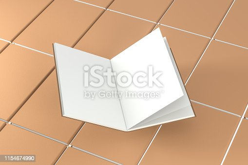 621728016istockphoto The organized hard cover notebooks, 3d rendering. 1154674990