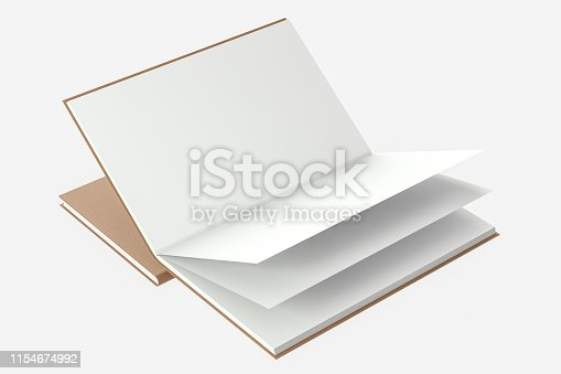 621728016istockphoto The organized hard cover notebooks, 3d rendering. 1154674992