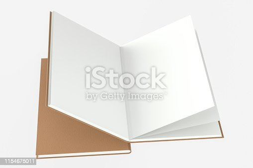 621728016istockphoto The organized hard cover notebooks, 3d rendering. 1154675011